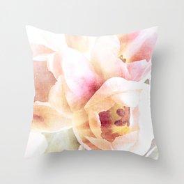 spring tulips {minus type Throw Pillow