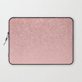 Rose Gold Glitter Cascade Laptop Sleeve