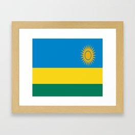 Flag of Rwanda Framed Art Print