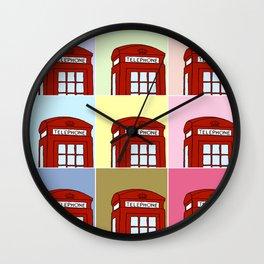 Phone Box Wall Clock