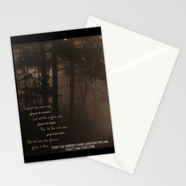 Jeremiah 9 , Know that I am the Lord Stationery Cards