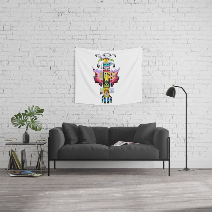 Kachina Butterfly 6 Wall Tapestry