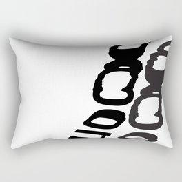 Moon typographic poster Rectangular Pillow