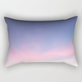 Blue evening sky with pink clouds. Photography Rectangular Pillow