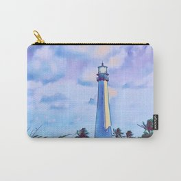 Cape florida lighthouse and Biscayne bay artwork Carry-All Pouch