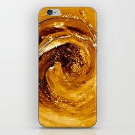 Golden Spin iPhone Skin