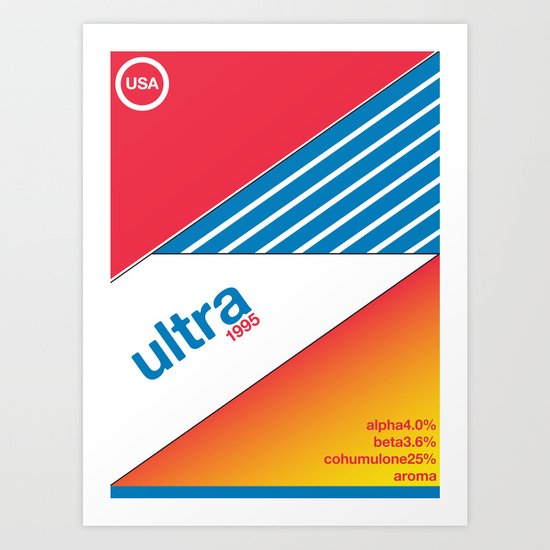 ultra//single hop Art Print
