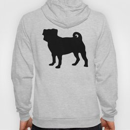 Simple Pug Silhouette Hoody