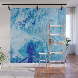 Blue Ocean Fluid Wave Water Wall Mural