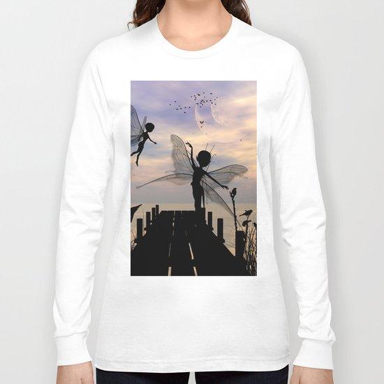 Cute fairy dancing on a jetty Long Sleeve T-shirt