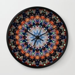 Colorful Mandala. Wall Clock