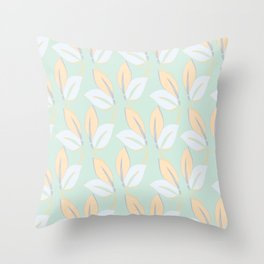 Classic leaves in green Throw Pillow
