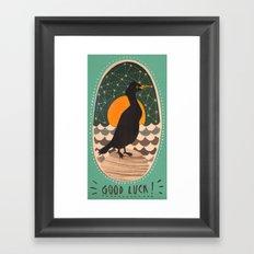 Good luck shag Framed Art Print