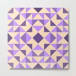 PURPLE AZTEC GEOMETRY Metal Print
