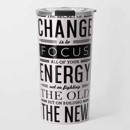 Lab No. 4 The Secret Of Change Socrates Life Motivational Quote Travel Mug