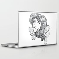gray Laptop & iPad Skins featuring Gray by SkinnyGinny
