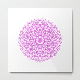 Mandala 12 / 3 eden spirit pink Metal Print