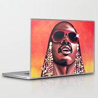 stevie nicks Laptop & iPad Skins featuring Stevie Wonder by Laura-A