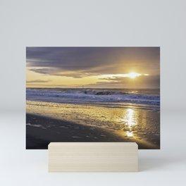 Dramatic sunrise over Jersey Shore Mini Art Print
