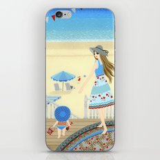 Family vacation at the beach iPhone & iPod Skin