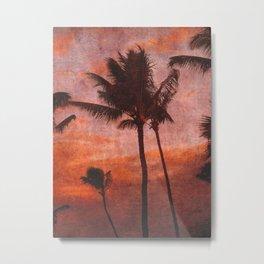 Maui Palms at Sunset Metal Print