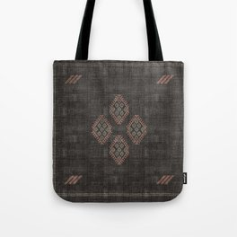 Kilim in Black and Pink Tote Bag