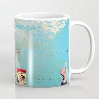 greek Mugs featuring Greek by Alec Goss