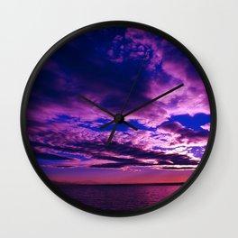 Scituate Reservoir, Rhode Island Late Summer Sunset Wall Clock