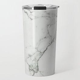 White Marble Texture. Travel Mug