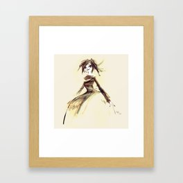 Gothic Lady Framed Art Print