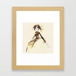 Gothic Lady Framed Art Print