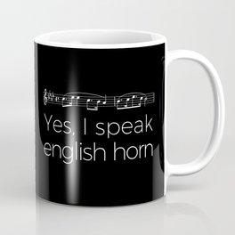 Yes, I speak english horn Coffee Mug