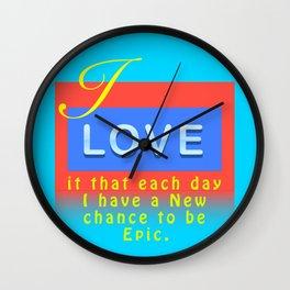 I Love It Aqua Wall Clock