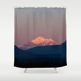Sunset on Mount Baker Shower Curtain