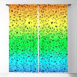 Rainbow Dice Blackout Curtain