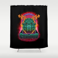 cthulhu Shower Curtains featuring CTHULHU by Gerkyart.