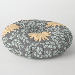 Autumn Flowers Floor Pillow