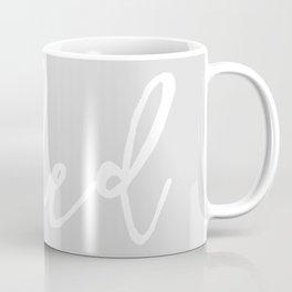Get naked // light gray and white Coffee Mug