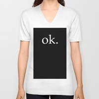 kim sy ok V-neck T-shirts featuring ok by The Funky Skull