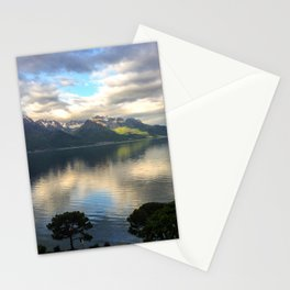 Lake Geneva and Alps, Montreux, Switzerland Stationery Cards