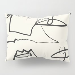 Abstract line art 12 Pillow Sham