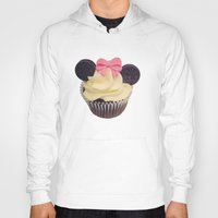 minnie mouse Hoodies featuring Minnie Mouse Cupcake by Loulabelle