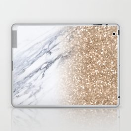 Bronze Copper Gold Glitter White Gray Marble Luxury III Laptop & iPad Skin