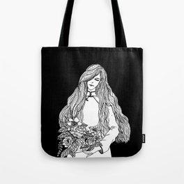 Girl In White Tote Bag