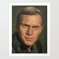 steve mcqueen Art Prints featuring Steve McQueen by scottmitchell