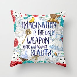 Alice in Wonderland - Imagination Throw Pillow