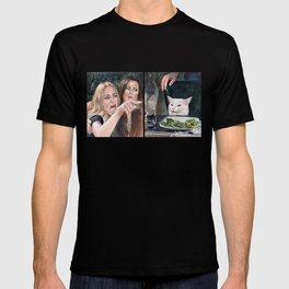 Woman Yelling at Cat Meme-3 T-shirt