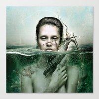 siren Canvas Prints featuring Siren by JudasArt