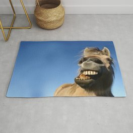 Happy Horse Photography Print Rug