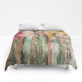 Woods in Spring Comforters